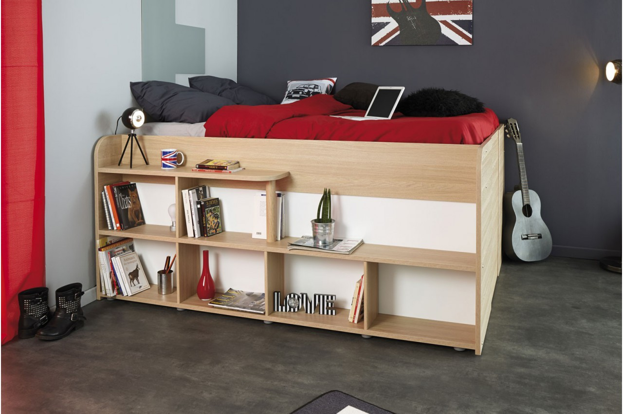 Lit multifonctions gain de place roxy cbc meubles - Lit gain de place ...