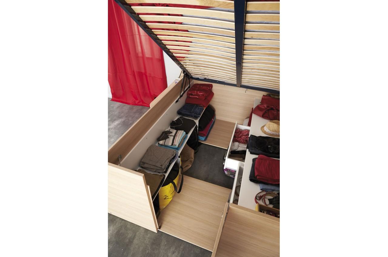lit combin 140x200 cm gain de place roxy cbc meubles. Black Bedroom Furniture Sets. Home Design Ideas