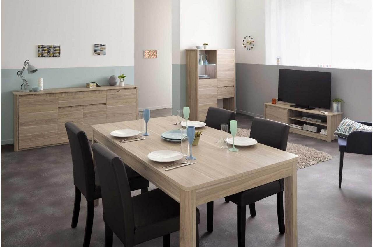 ensemble s jour pas cher en ch ne lemon cbc meubles. Black Bedroom Furniture Sets. Home Design Ideas