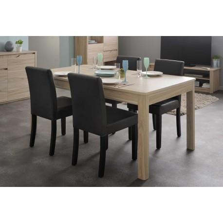 Table de s jour pas cher en ch ne lemon cbc meubles for Mobilier sejour complet