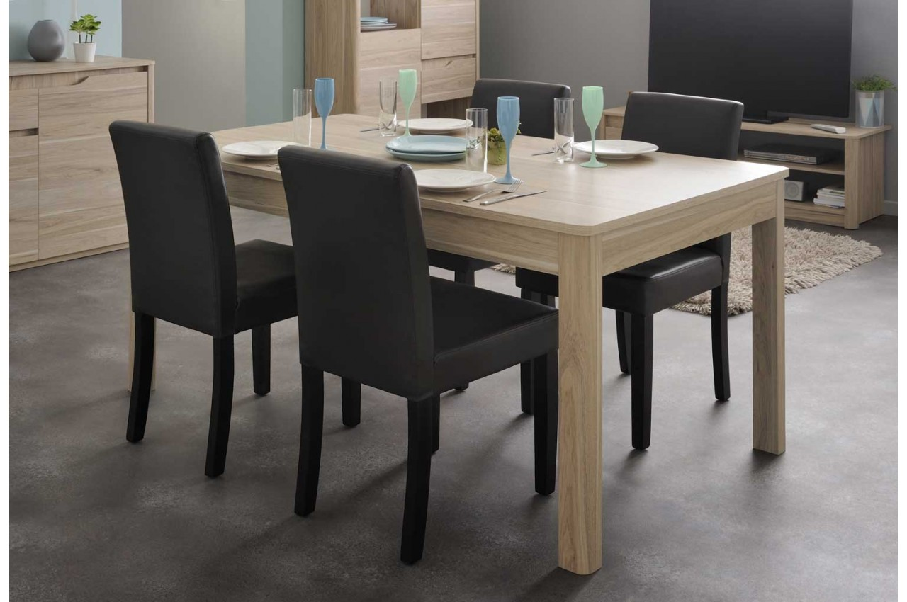 table de s jour pas cher en ch ne lemon cbc meubles. Black Bedroom Furniture Sets. Home Design Ideas