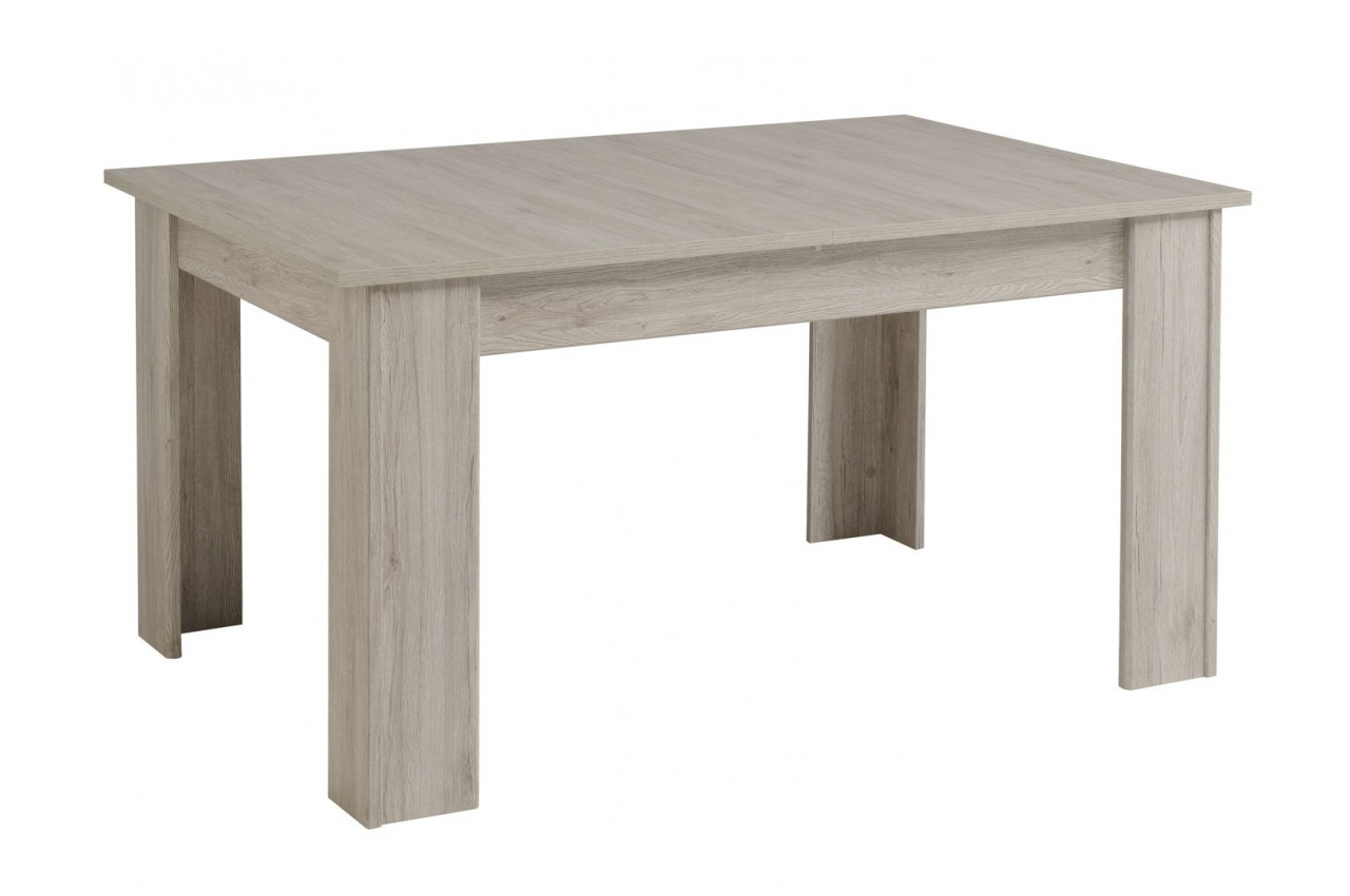 Salle manger gris patine et blanc brillant louno cbc for Meuble patine blanc gris