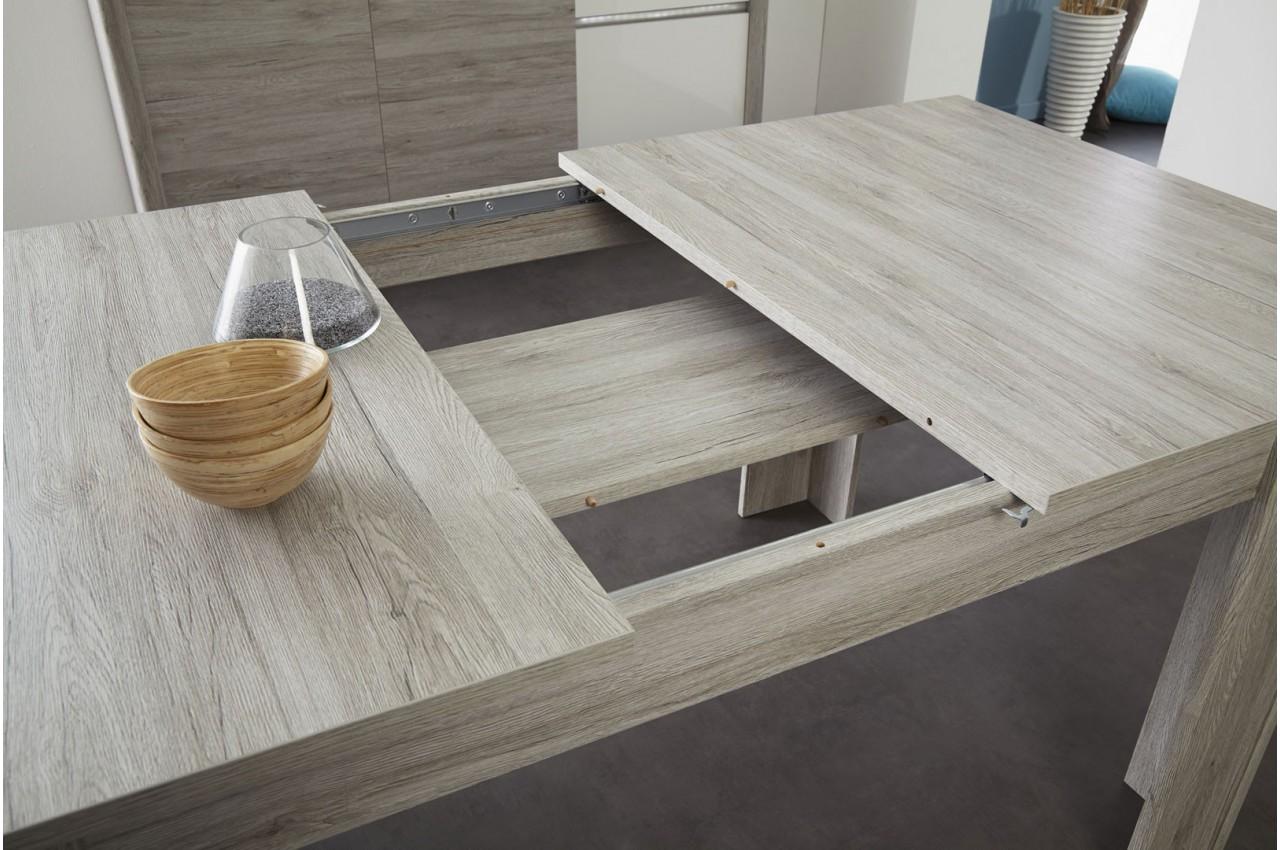 table de repas avec allonge gris portofino louno cbc meubles. Black Bedroom Furniture Sets. Home Design Ideas