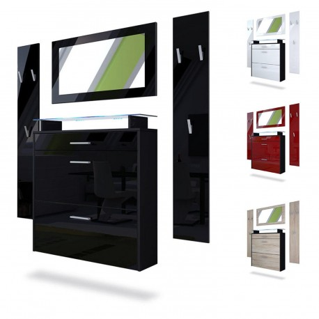 ensemble meuble entr e suspendu cbc meubles. Black Bedroom Furniture Sets. Home Design Ideas