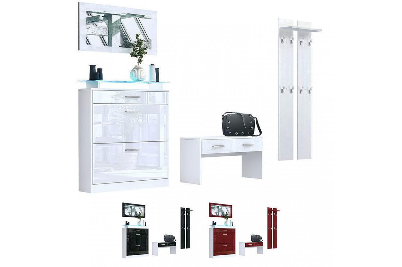 Meuble entr e vestiaire design bluebell large cbc meubles - Meuble vestiaire entree but ...