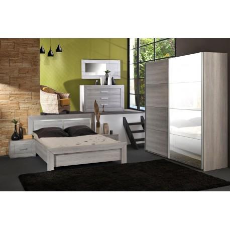 Chambre à coucher complète look contemporain LEO v1