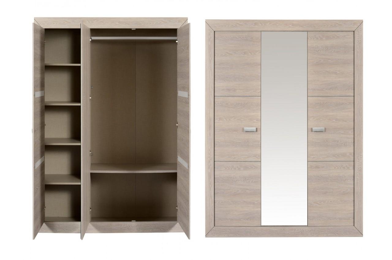 Chambre coucher compl te look contemporain leo v2 cbc for Mobilier chambre a coucher contemporain