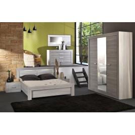 Chambre à coucher complète look contemporain LEO v2
