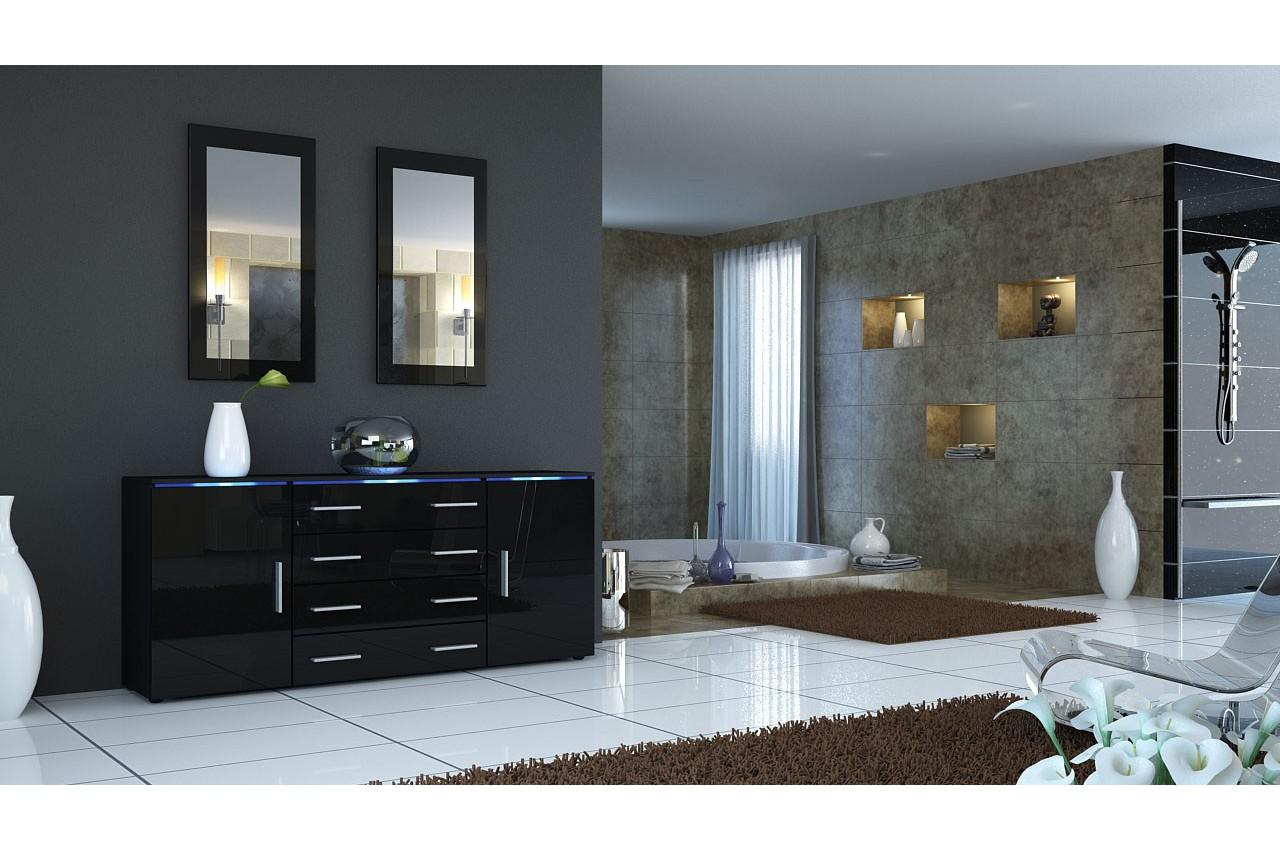 #51687A Buffet/Bahut 166cm  4 Tiroirs 2 Portes 11coloris  Led  4211 buffet de salle a manger moderne 1280x850 px @ aertt.com