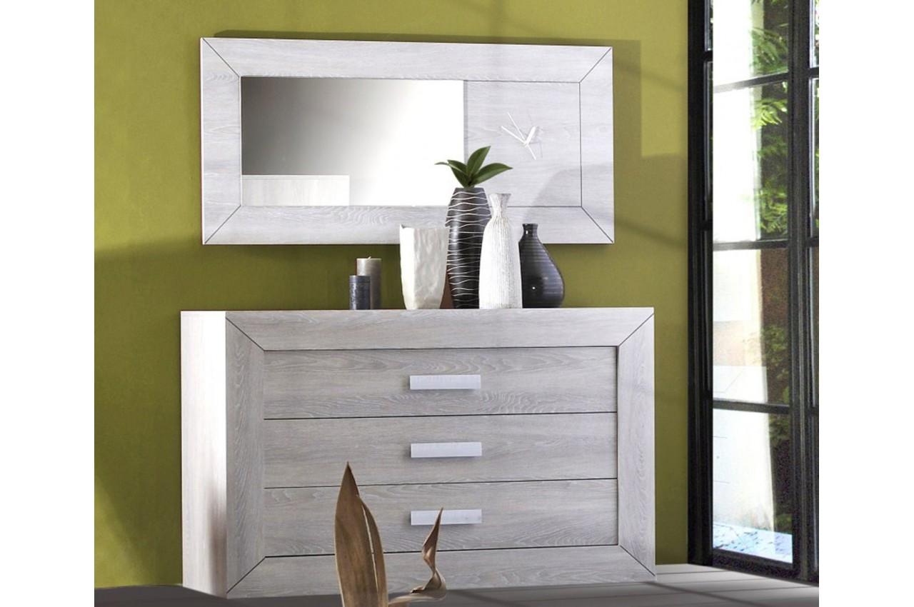 Commode de chambre coucher 3 tiroirs leo cbc meubles - Commode chambre a coucher ...