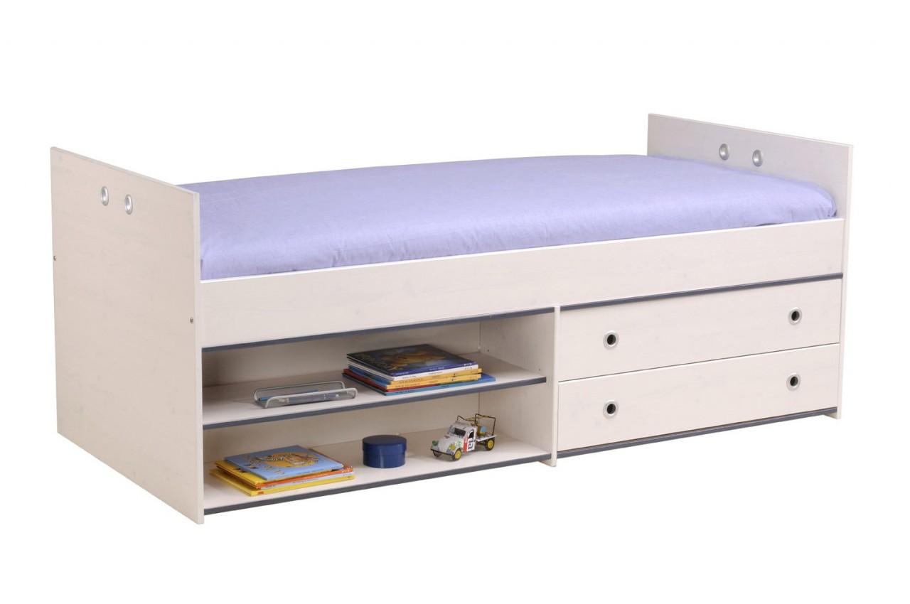 lit mi hauteur avec rangement snoopy cbc meubles. Black Bedroom Furniture Sets. Home Design Ideas