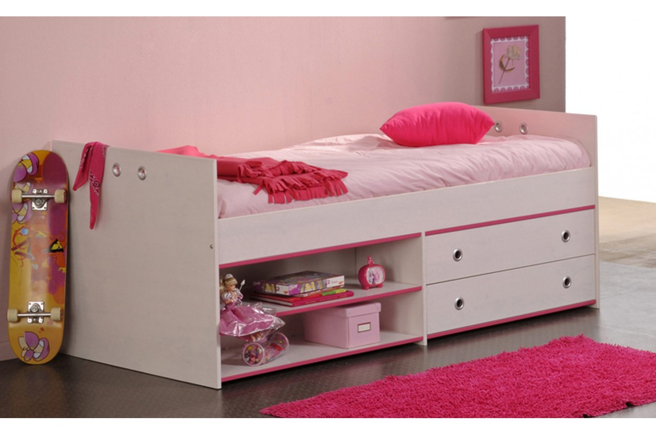 lit mi hauteur avec rangement snoopy cbc meubles. Black Bedroom Furniture Sets. Home Design Ideas