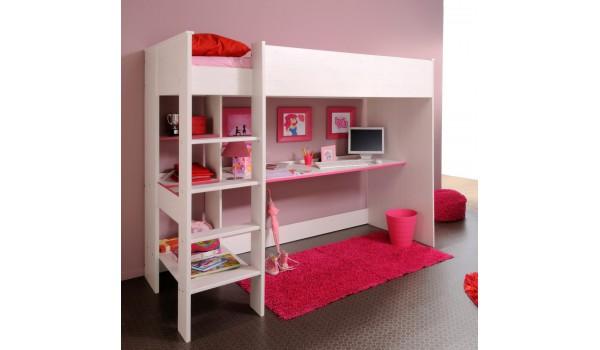 Lit sur lev combin avec 1 bureau snoopy cbc meubles - Lit sureleve avec bureau ...