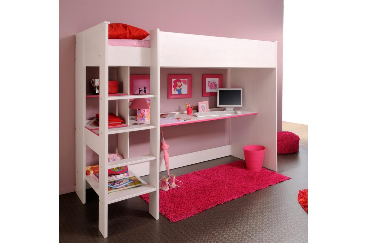 Lit sur lev combin avec 1 bureau snoopy cbc meubles - Lit combine avec bureau ...