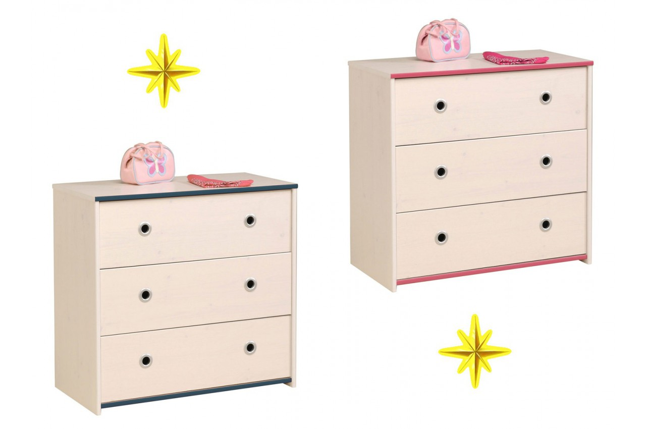 Commode de chambre gar on ou fille snoopy cbc meubles - Commode contemporaine chambre ...