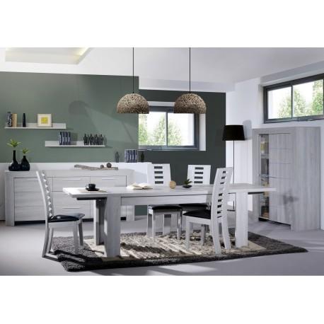 ensemble salle manger ch ne gris clair calisto cbc. Black Bedroom Furniture Sets. Home Design Ideas