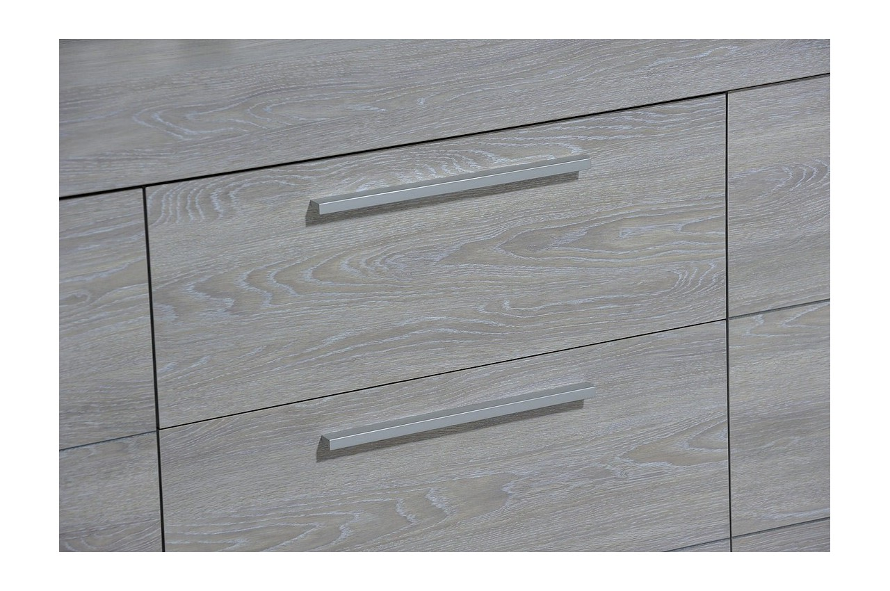buffet/enfilade 220cm chêne grisé calisto - cbc-meubles