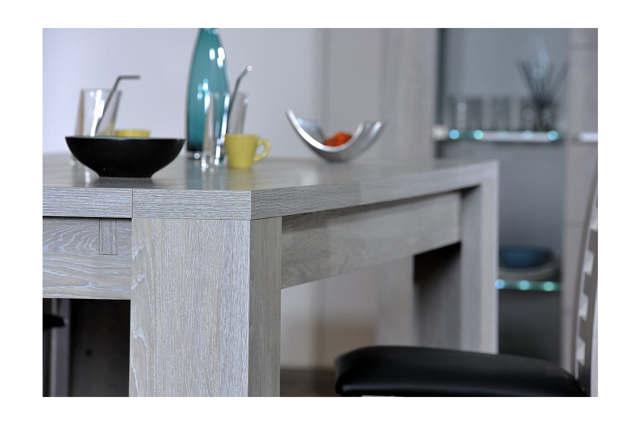 table de repas contemporaine 1m80 2m60 cbc meubles. Black Bedroom Furniture Sets. Home Design Ideas