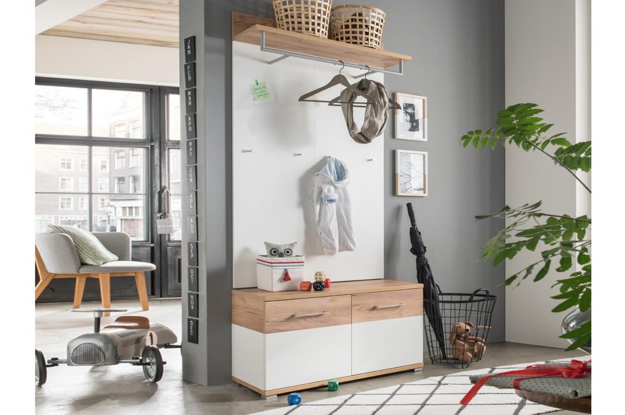 Meuble d 39 entr e style scandinave pas cher popix cbc meubles for Entree simple pas cher