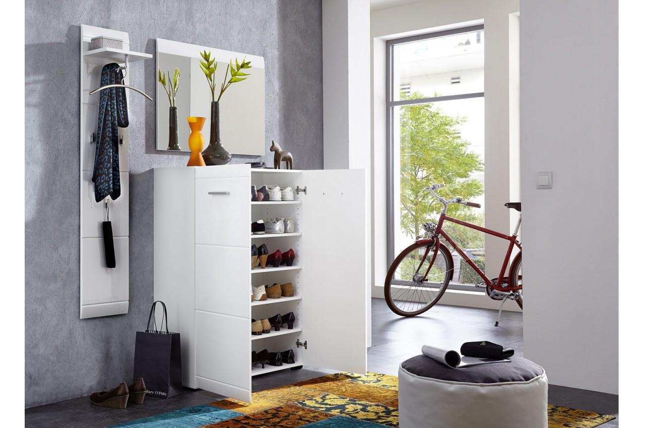 ensemble de meuble d 39 entr e laqu blanc douchka cbc meubles. Black Bedroom Furniture Sets. Home Design Ideas
