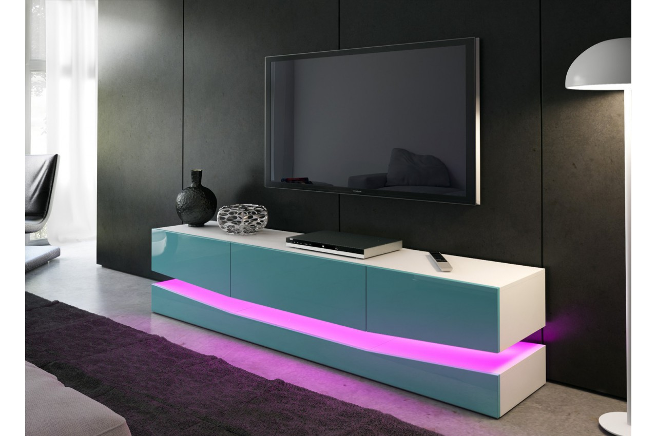 Meuble t l bas design miami cbc meubles - Meuble design tele ...