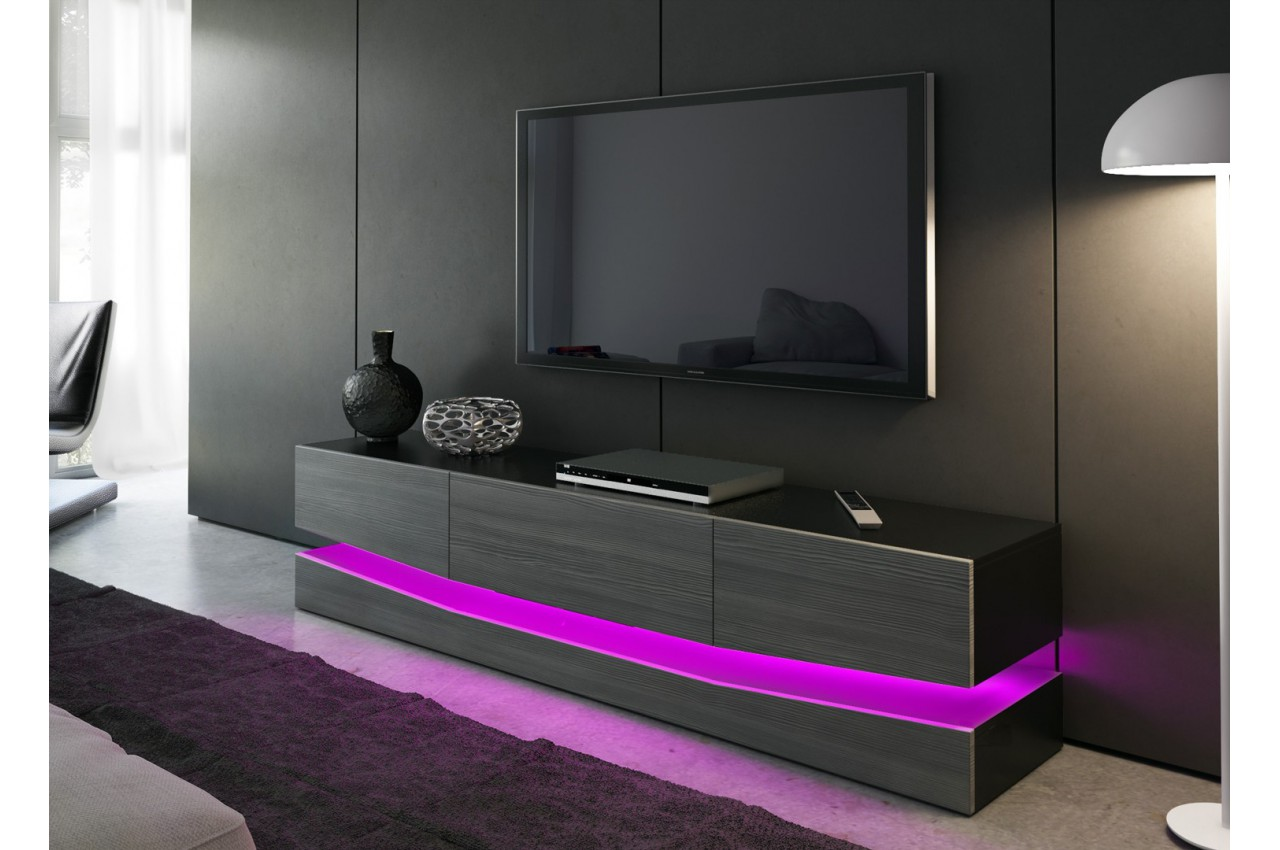 meuble t l bas moderne miami cbc meubles. Black Bedroom Furniture Sets. Home Design Ideas