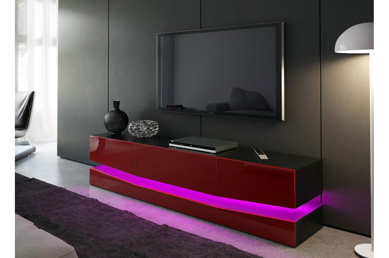 Meuble t l bas moderne miami cbc meubles for Meuble bas pour tele