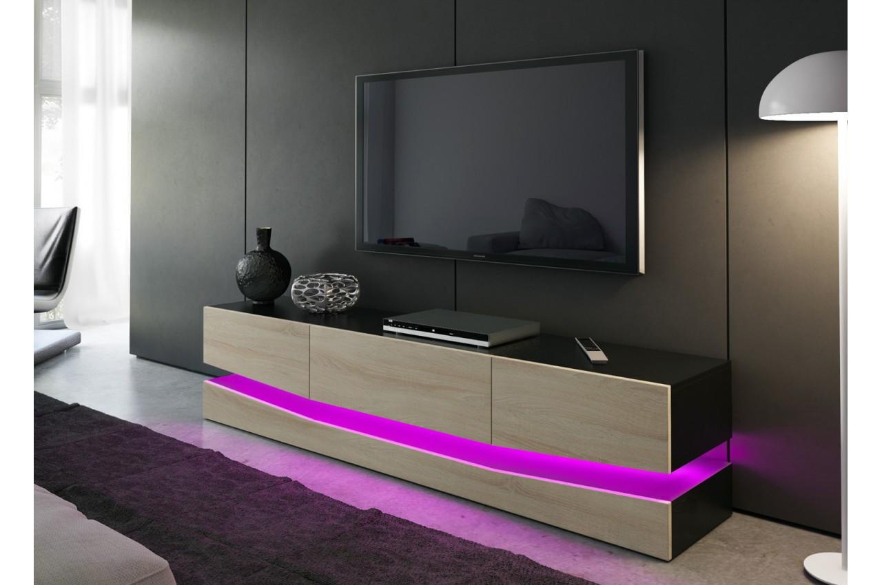 meuble t l bas moderne miami cbc meubles. Black Bedroom Furniture Sets. Home Design Ideas