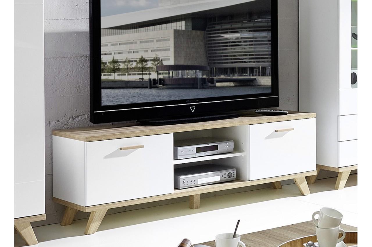 Meuble de t l vision bas bor al cbc meubles for Meuble bas pour tele