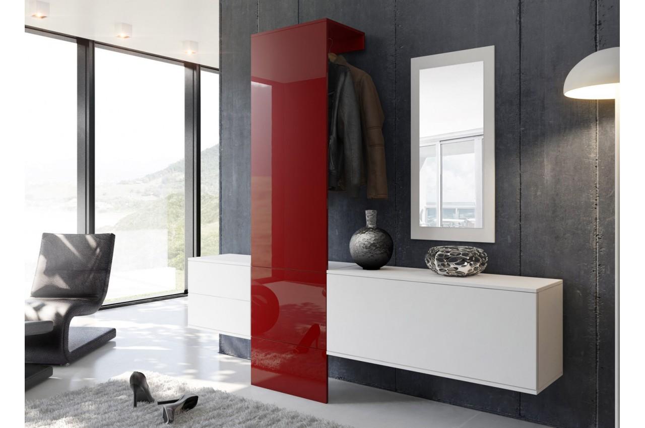 Meuble d 39 entr e mural design lys cbc meubles for Meuble mural design
