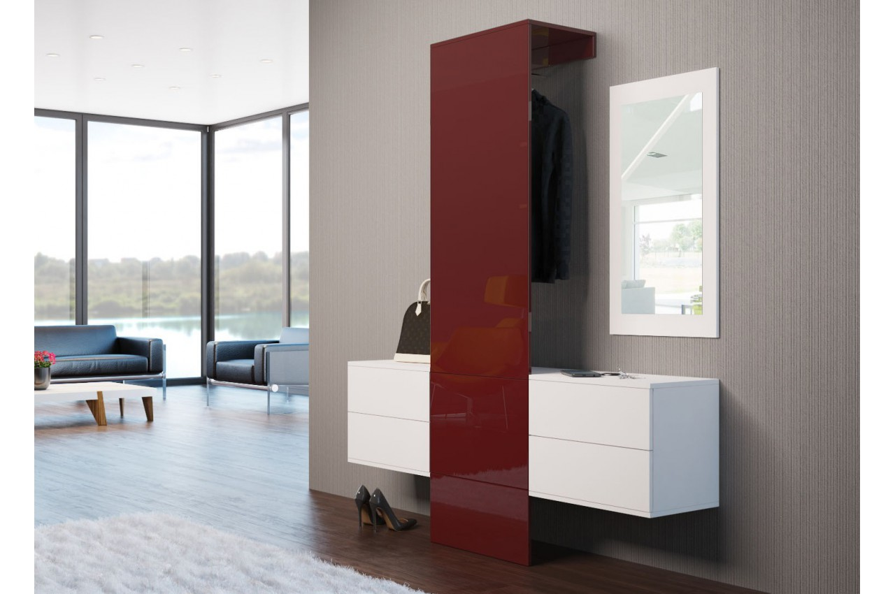 meuble d 39 entr e mural moderne lys 2 cbc meubles. Black Bedroom Furniture Sets. Home Design Ideas