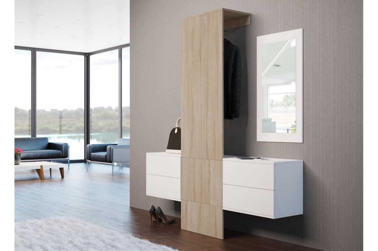 Meuble d 39 entr e mural moderne lys 2 cbc meubles - Meubles entree moderne ...