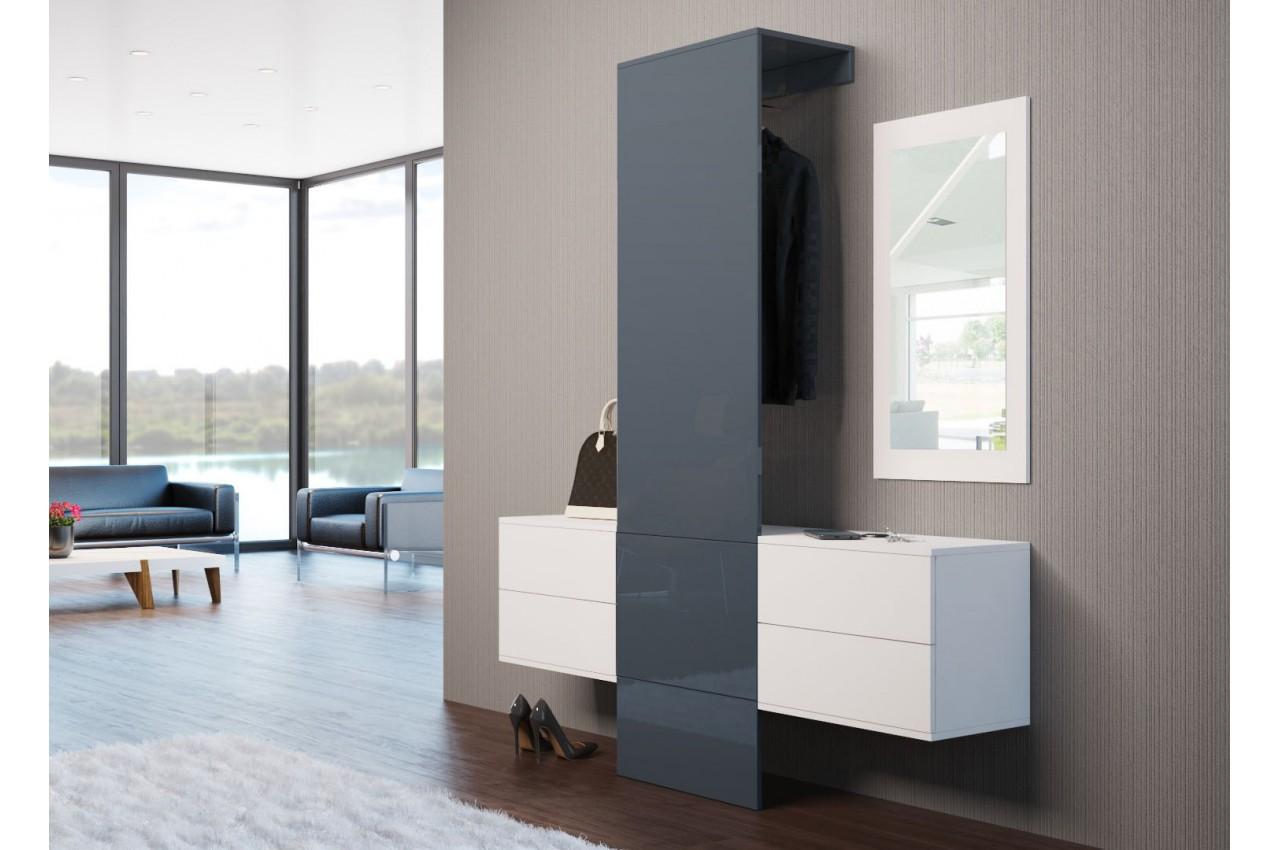 Meuble d 39 entr e mural moderne lys 2 cbc meubles - Meubles d entree moderne ...