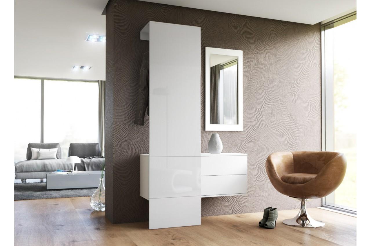 Meuble d 39 entr e mural lys 3 cbc meubles for Rangement mural entree