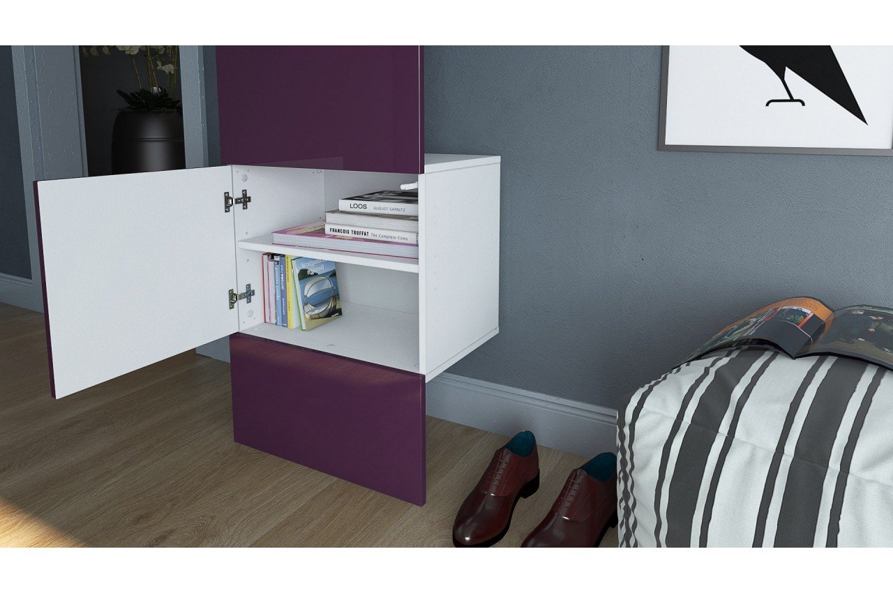 meuble vestiaire mural lys 4 cbc meubles. Black Bedroom Furniture Sets. Home Design Ideas