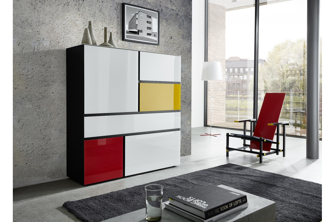 buffet haut design thor cbc meubles. Black Bedroom Furniture Sets. Home Design Ideas