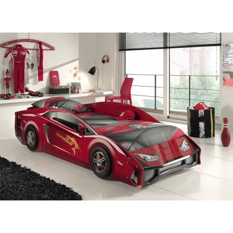 Lit voiture sport rouge MAGNUM