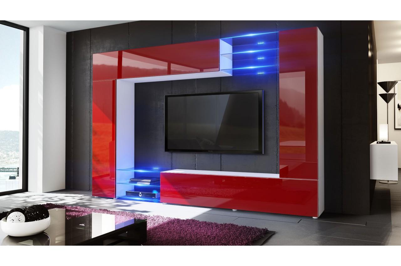 Meuble TV mural led SAMBA  CbcMeubles -> Meuble Tv Mural A Led