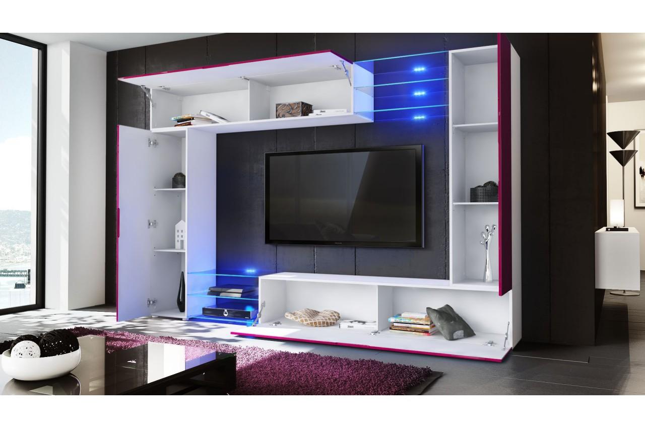 meuble tv mural led samba cbc meubles. Black Bedroom Furniture Sets. Home Design Ideas