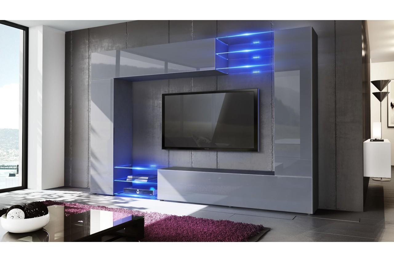 ... > Meuble tv > Meuble tv moderne > Meuble TV mural design led SAMBA