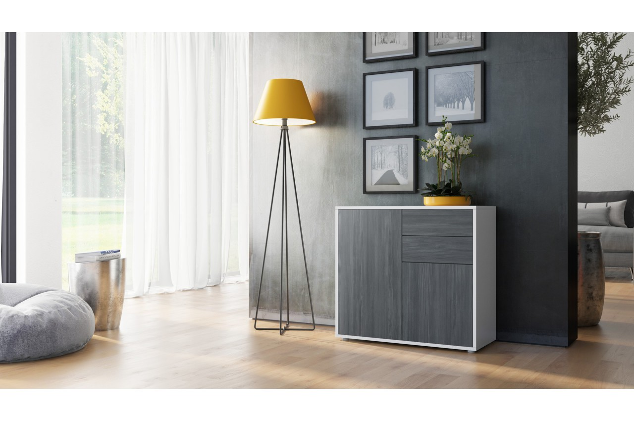 commode 2 portes 2 tiroirs moderne babou cbc meubles. Black Bedroom Furniture Sets. Home Design Ideas