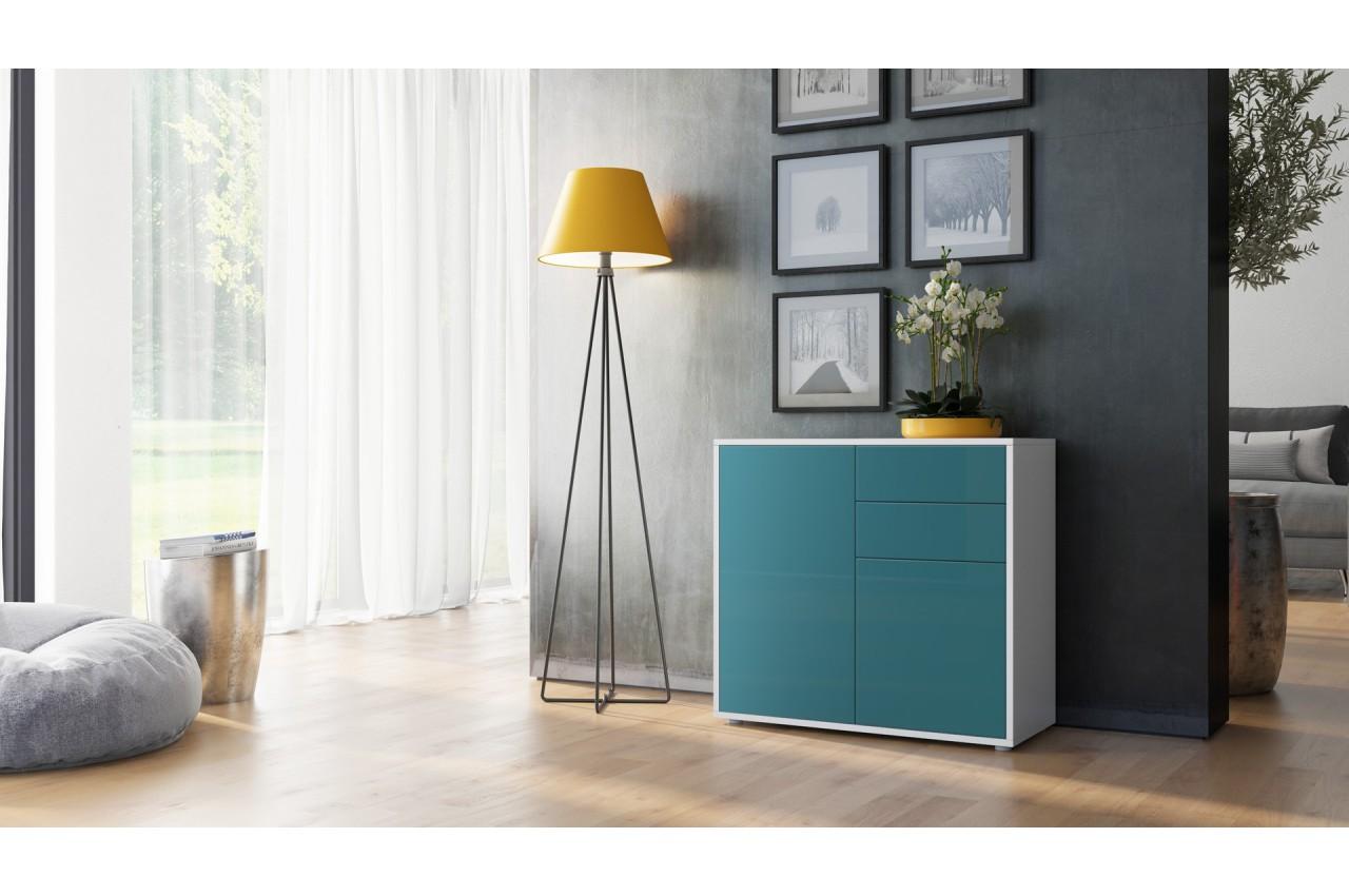 commode 2 portes 2 tiroirs moderne babou cbc meubles. Black Bedroom Furniture Sets. Home Design Ideas