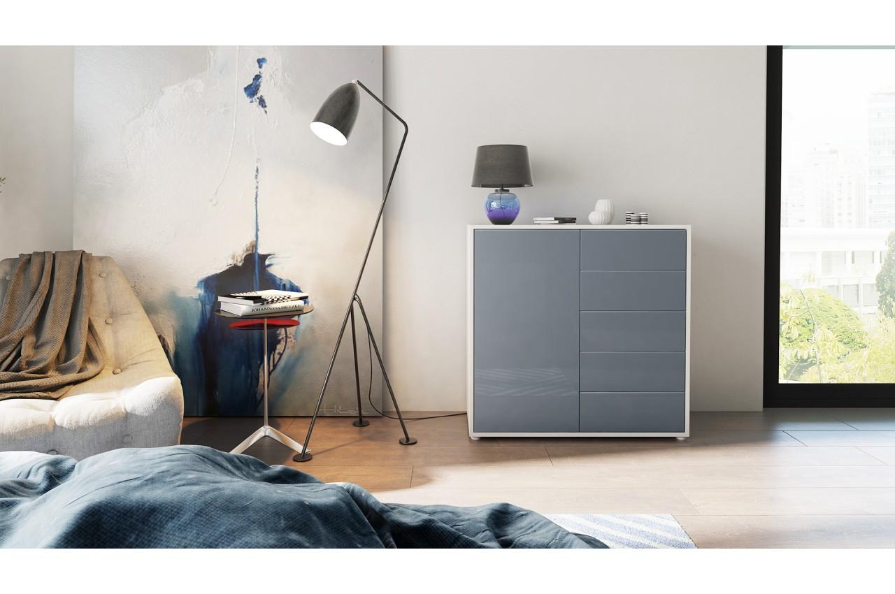 commode moderne 1 porte 5 tiroirs babou cbc meubles. Black Bedroom Furniture Sets. Home Design Ideas