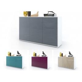 Commode 3 portes 2 tiroirs moderne BABOU