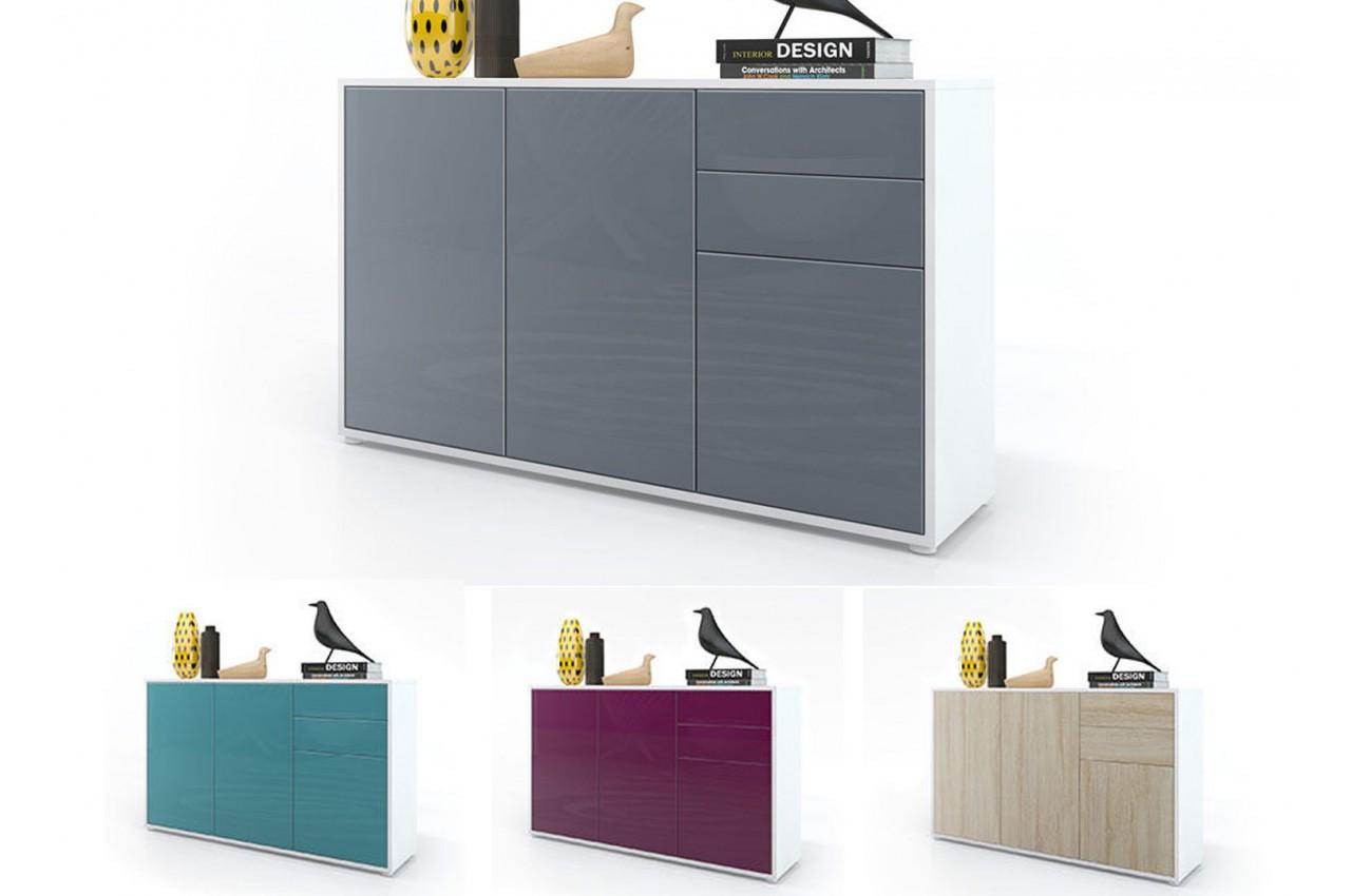 commode 3 portes 2 tiroirs moderne babou cbc meubles. Black Bedroom Furniture Sets. Home Design Ideas