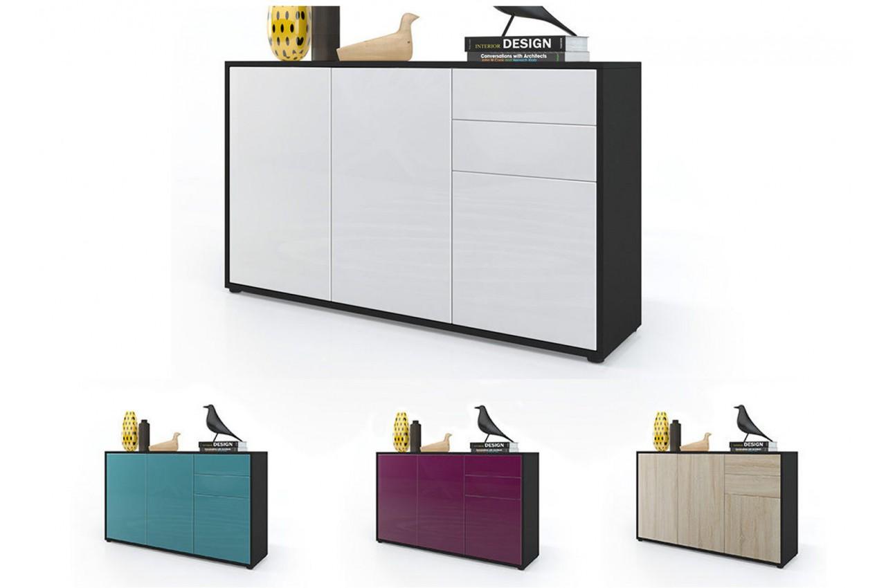 commode 3 portes 2 tiroirs babou cbc meubles. Black Bedroom Furniture Sets. Home Design Ideas