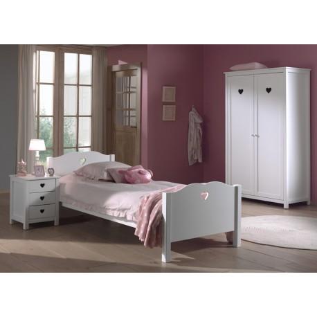 Chambre fille laqué blanche SARAH - Cbc-Meubles