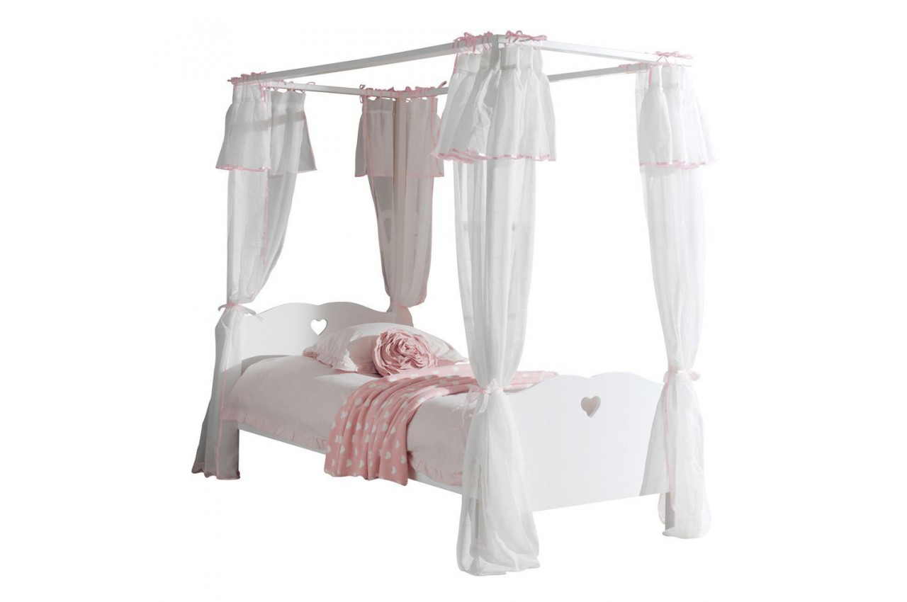 lit fille baldaquin sarah cbc meubles. Black Bedroom Furniture Sets. Home Design Ideas