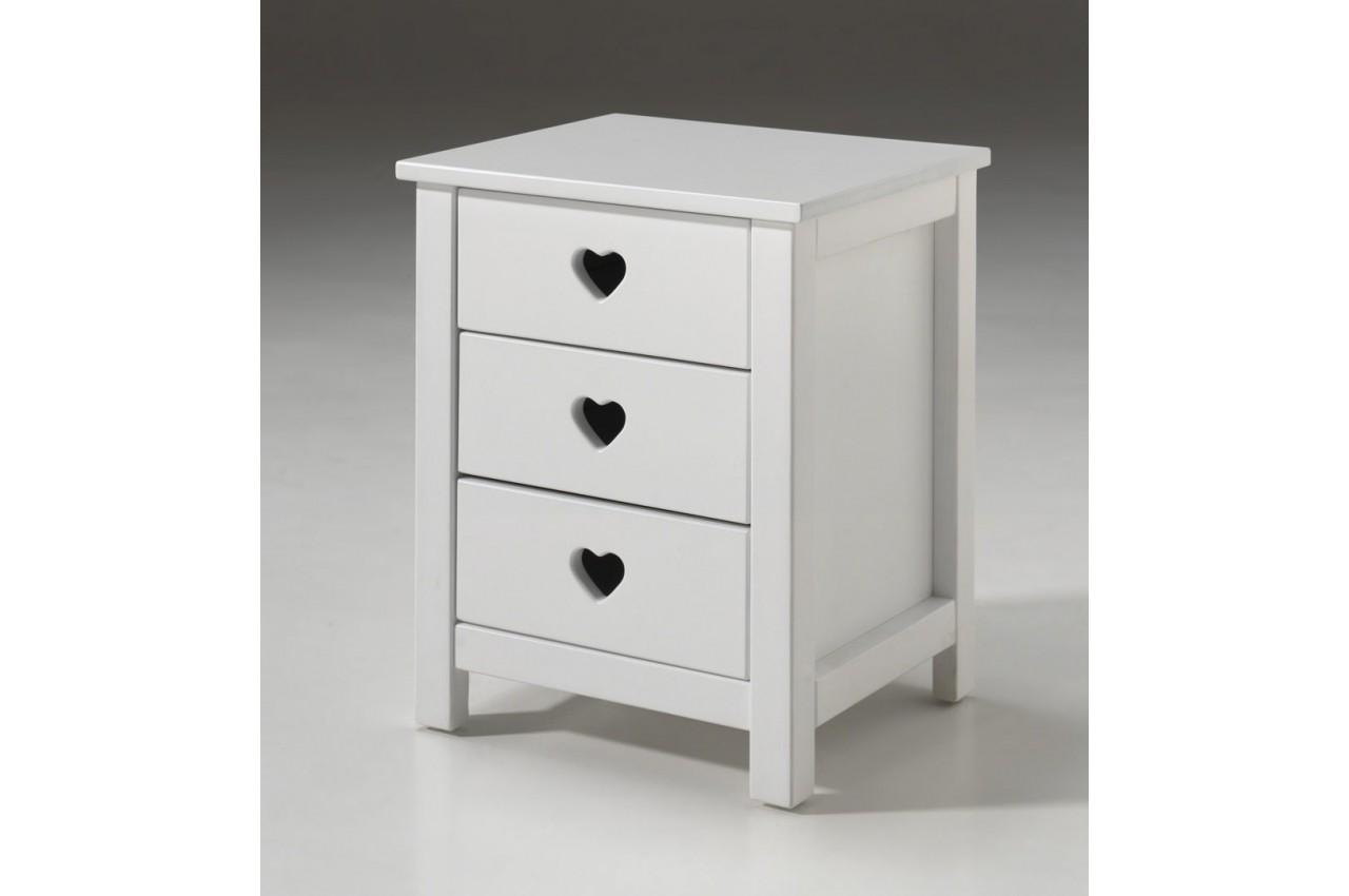 lit fille laqu blanc sarah cbc meubles. Black Bedroom Furniture Sets. Home Design Ideas