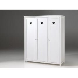 Armoire 3 portes blanc laqué SARAH